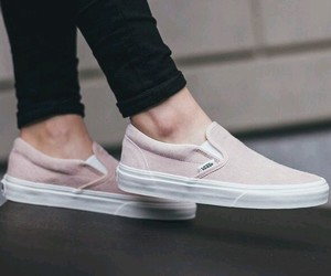 beige, pink, and slip on image