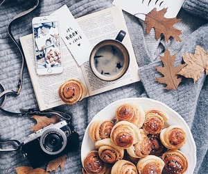 autumn, coffee, and food image