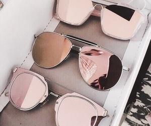 glasses, metallic, and pink image