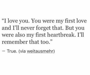heartbreak, love, and quote image