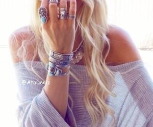 bohemian, bracelets, and chic image