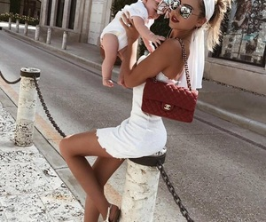 family, fashion, and mother image