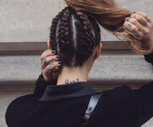 braids, hairstyle, and ponytail image