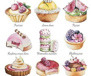 art, cake, and pastry image