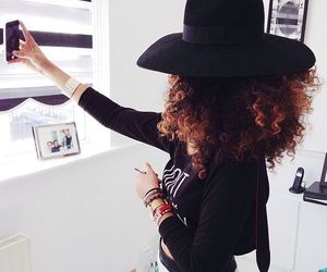 article, curly hair, and fashion image