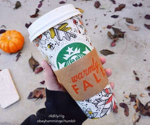 starbucks, fall, and autumn image