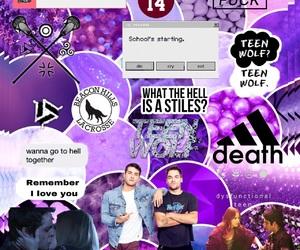 edit, purple, and teen wolf image