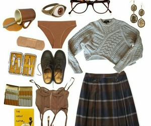autumn, bra, and brown image