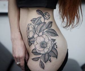 art, artsy, and flower tattoo image