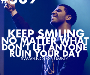 Drake, quote, and smile image