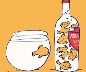 vodka and fish image