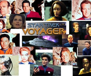 seven of nine, star trek voyager, and kathryn janeway image