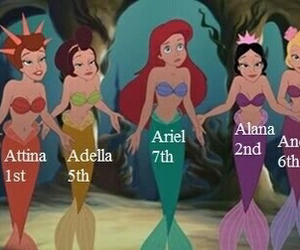disney, ariel, and sisters image
