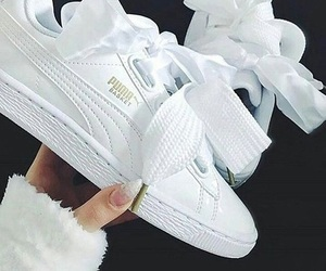 puma, sneakers, and white image