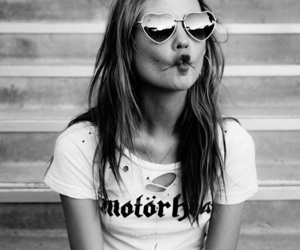 girl, Behati Prinsloo, and black and white image