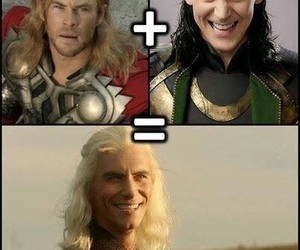 thor, loki, and viserys image