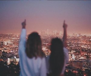 friendship, girl, and city image
