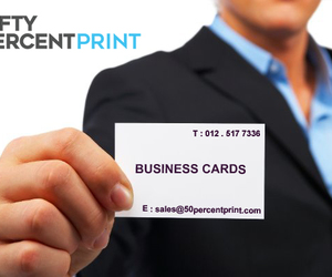 business card design, 50percent print, and fifty percent print image