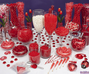 red, sweets, and treats image