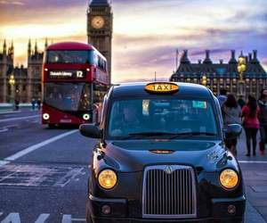 city, london, and bus image