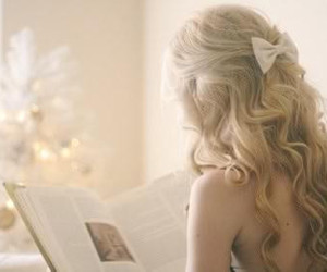 beautiful, blonde, and book image