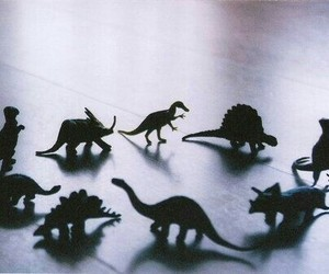 dinosaur, toys, and vintage image