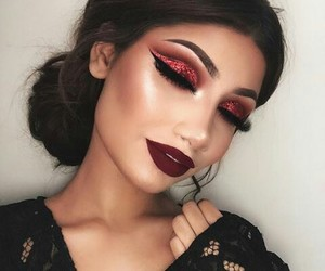beauty, makeup, and colours image