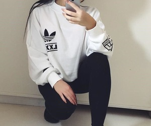 adidas, girl, and outfit image
