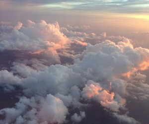 beauty, clouds, and Flying image