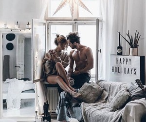 couple, home, and love image