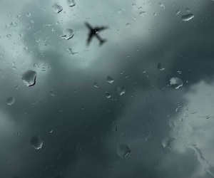 cloudy, drops, and fly image