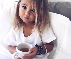 child, girl, and coffee image