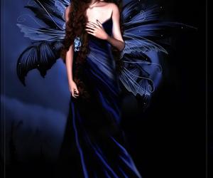 beautiful, blue, and Dark Angel image