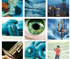 blue, poseidon, and percy jackson image
