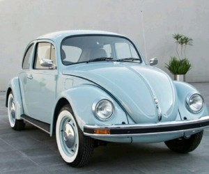 blue, car, and volkswagen image