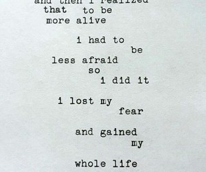 quotes, life, and fear image