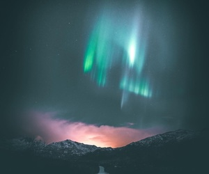 aurora boreal, inspiration, and mountains image