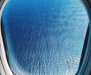 plane, ocean, and sea image