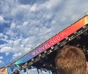 band, music, and sky image