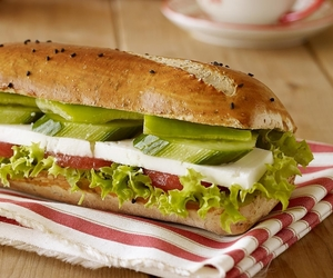 food, sandwitch, and back to school image