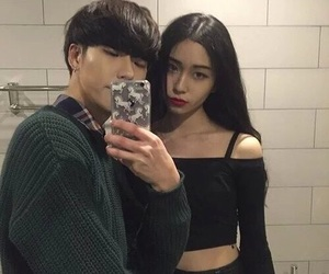 asian, love, and couple image