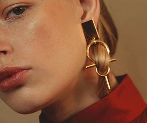 beauty, earrings, and fashion image