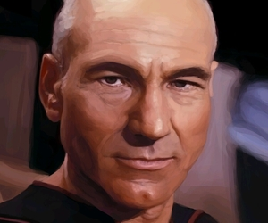 art, captain, and jean luc picard image