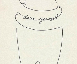 love, bear, and love yourself image