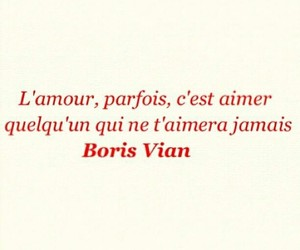 amour, boris vian, and french image