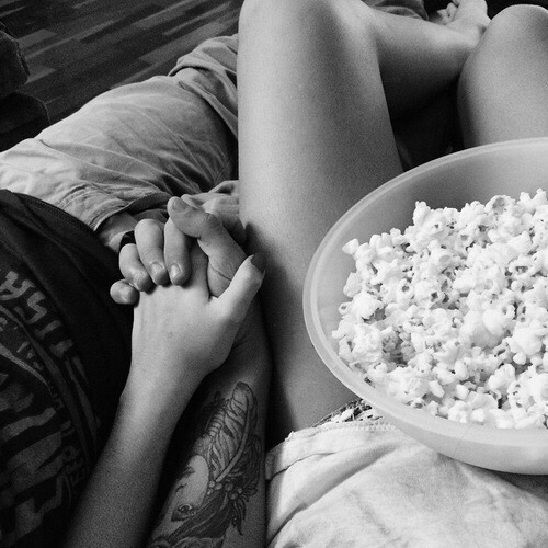 black and white, couple, and goals image
