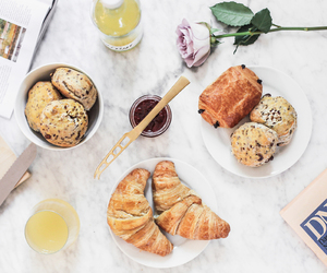 breakfast, croissant, and delicious image