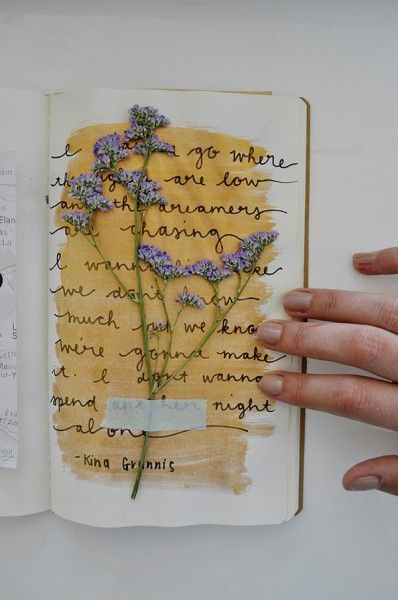flowers, journal, and yellow image