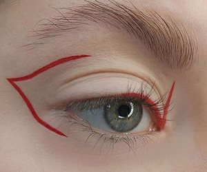 red, aesthetic, and eye image