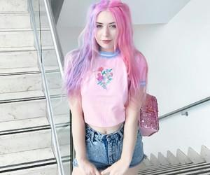 pink, fashion, and beauty image